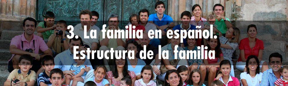 3. La familia en español. Estructura de la familia