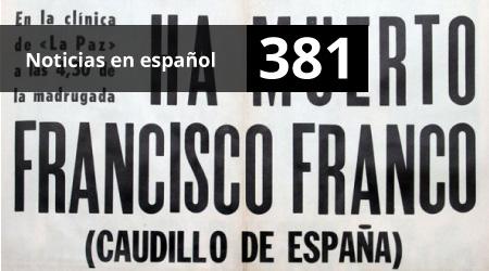 381. Noticias en español